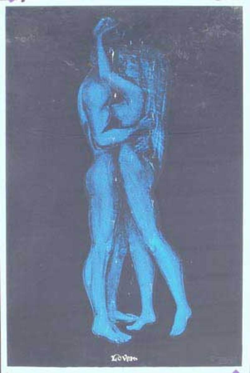 Lovers day glo black light Original Vintage Psychedelic Era Poster