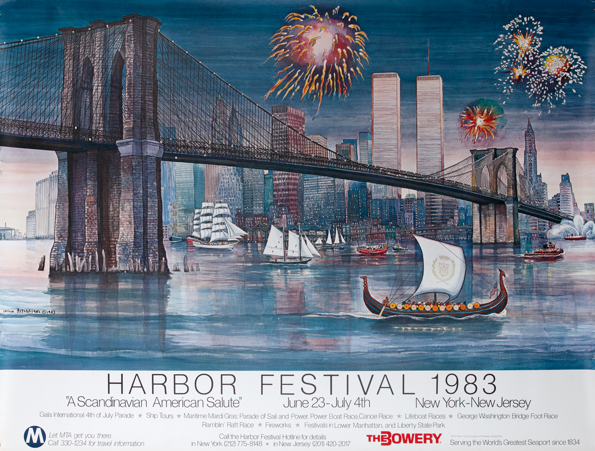 New York City (NYC) Harbor Festival Poster 1983