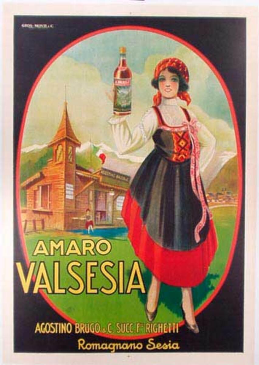 Amaro Original Vintage Advertising Poster
