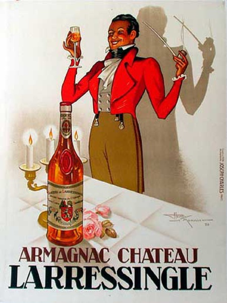 Armagnac Larressingle Original Vintage Advertising Poster Maestro