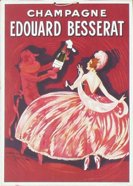 Besserat Champagne Original Vintage Advertising Poster