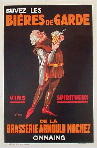 Bieres de Garde Original Vintage Advertising Poster