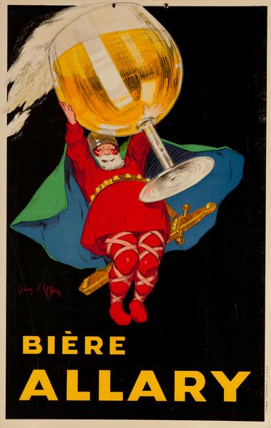 Original Vintage Biere Allary Advertising Poster