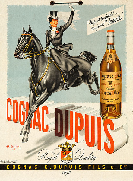 Cognac Dupuis Original Vintage Advertising Poster