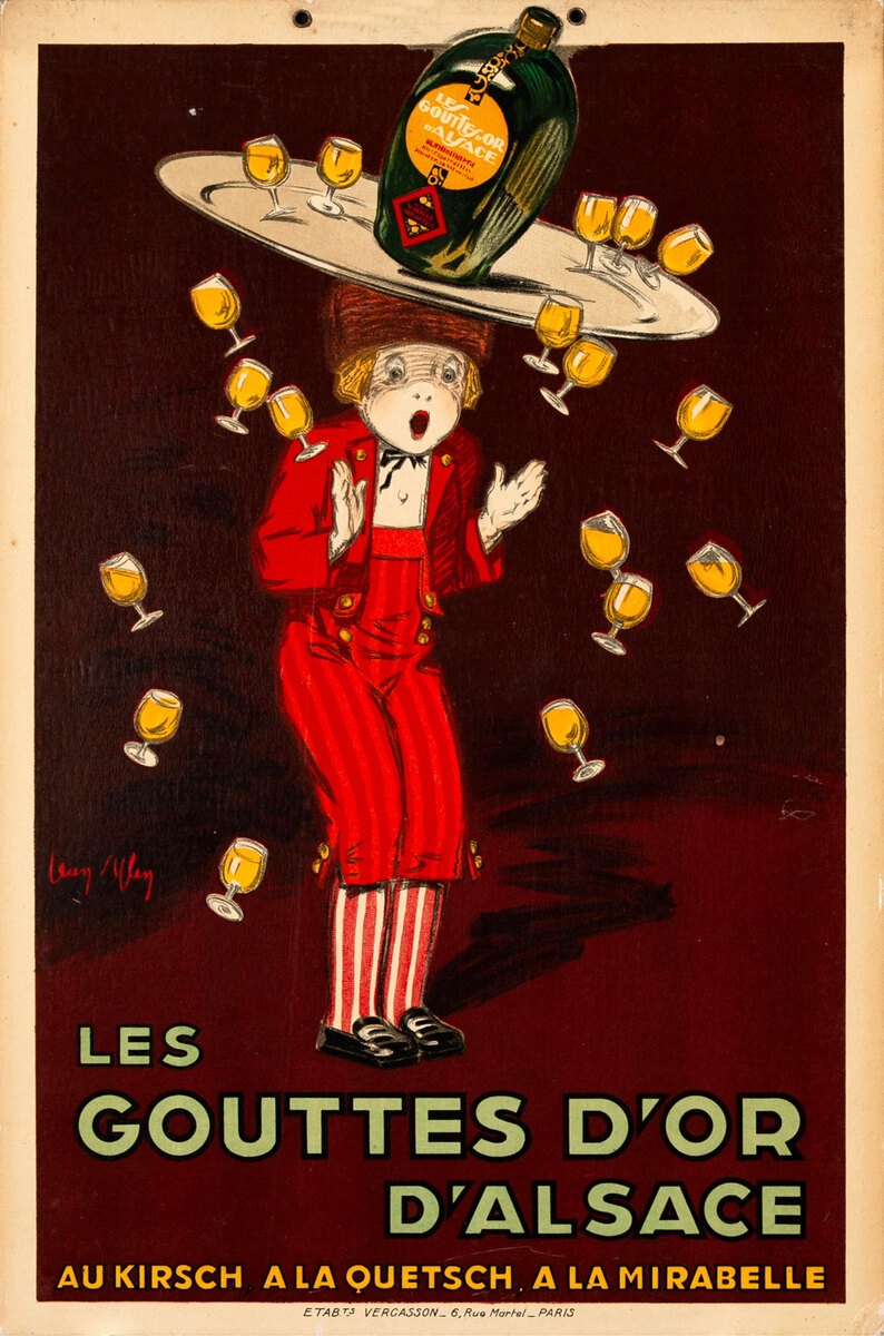 Gouttes D'Or Carton Original French Advertising Poster