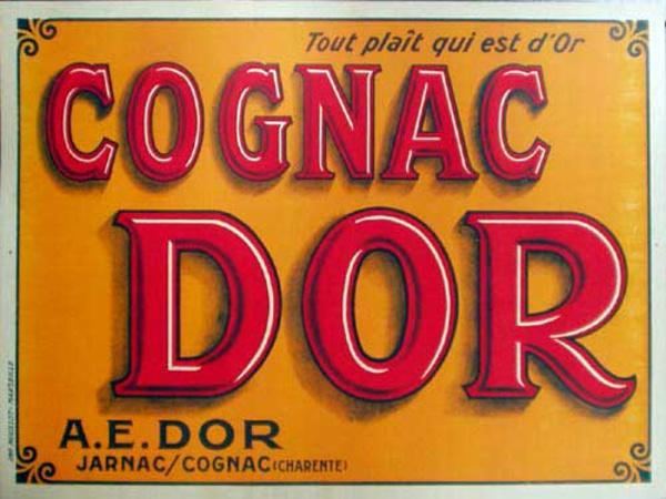 Cognac D'Or Original Vintage Advertising Poster