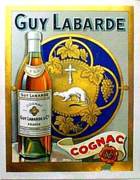 Cognac Guy Labarde Original Vintage Advertising Poster
