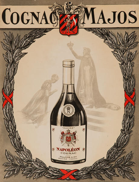 Cognac Majos Original French Advertising Poster