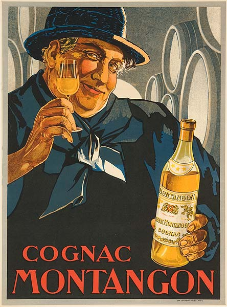 Cognac Montagon Original Vintage Advertising Poster