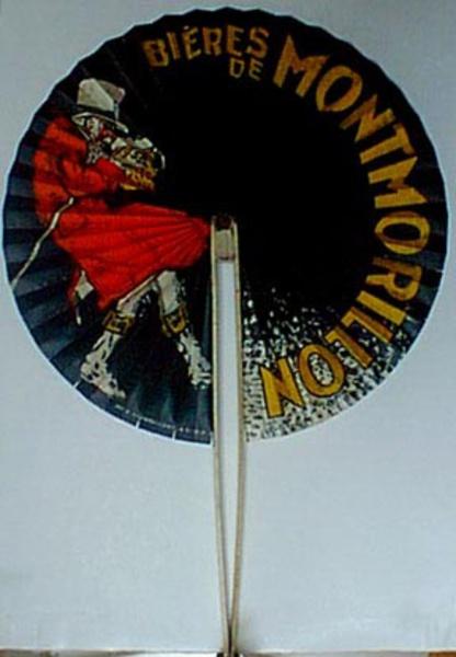 Original Vintage Advertising Fan Biere Montmorlion