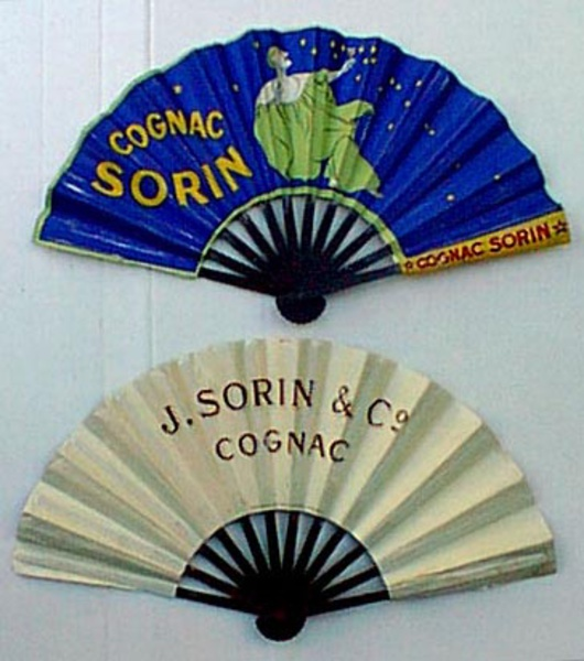 Original Vintage Advertising Fan Cognac Sorin