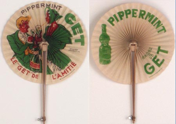 Original Vintage Advertising Fan Get Pippermint