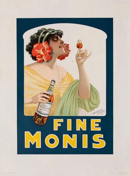 Fine Monis Original Vintage Advertising Poster