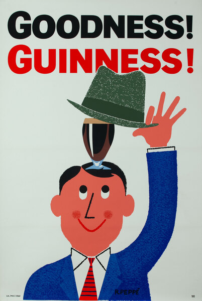 Goodness Guinness British Beer Poster