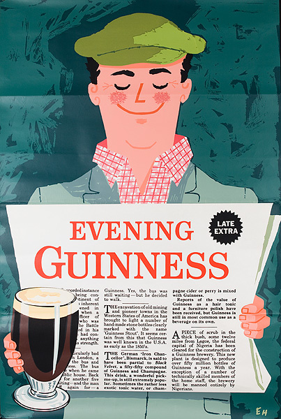Evening Guinness British Beer Poster