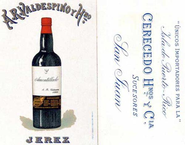Original Spanish Advertising Card Jerez Amontillado