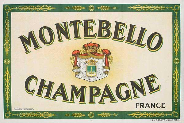 Montebello Champagne Original French Advertising poster