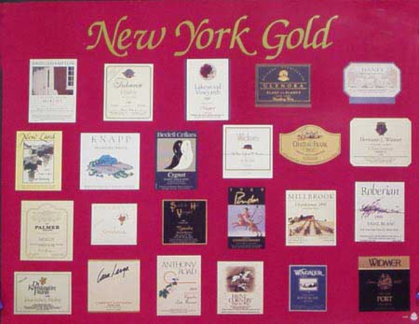 NY Wine Labels Original Advertising Poster