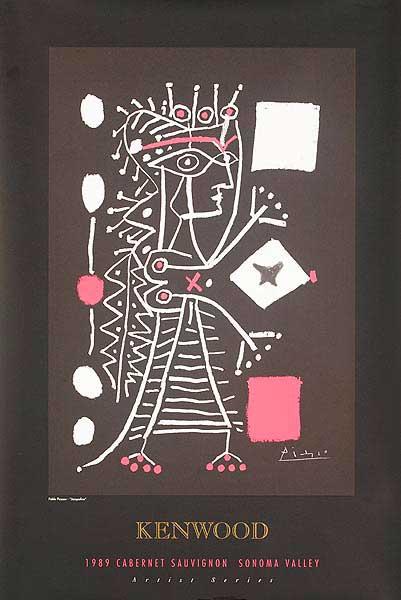 Picasso Kenwood Wine Original Vintage Advertising Poster