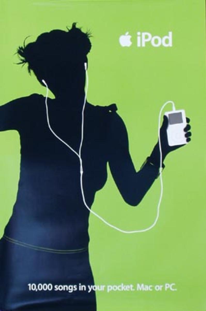 Apple IPOD Original Advertising Poster Green