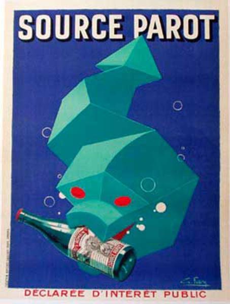 Source Parot Original Vintage Advertising Poster