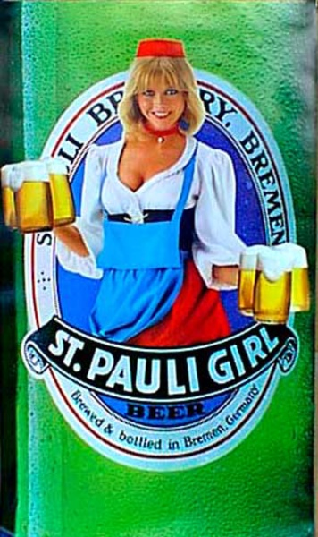 St. Pauli Girl Original Vintage Advertising Poster