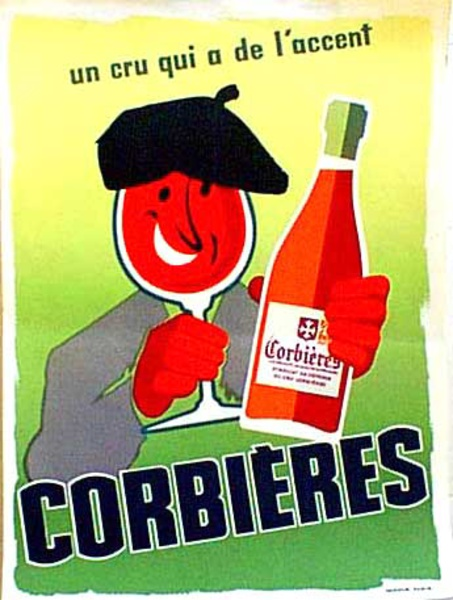 Vin Corbieres Original Vintage Advertising Poster