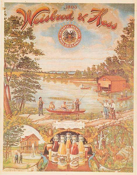Weisbrod and Hess Original American Beer Advertising Poster