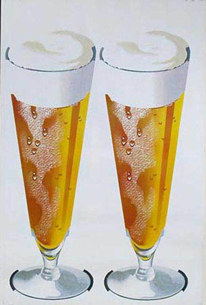 2 Beers Original American Advertising Poster