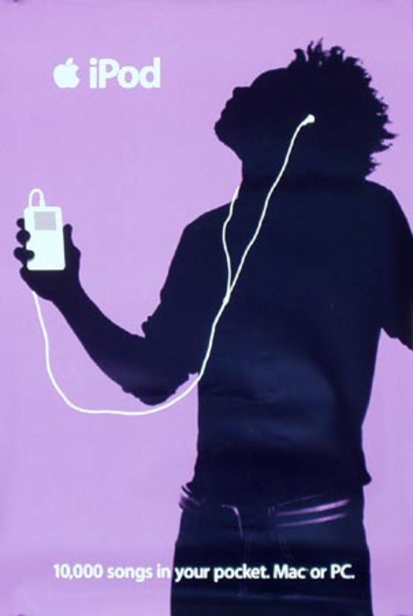 Apple IPOD Original Advertising Poster Purple