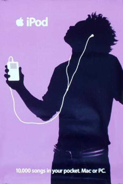 Apple IPOD Original Advertising Poster Purple