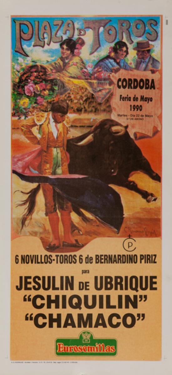 Cordoba Plaza de Toros Original Spanish Bullfight Poster