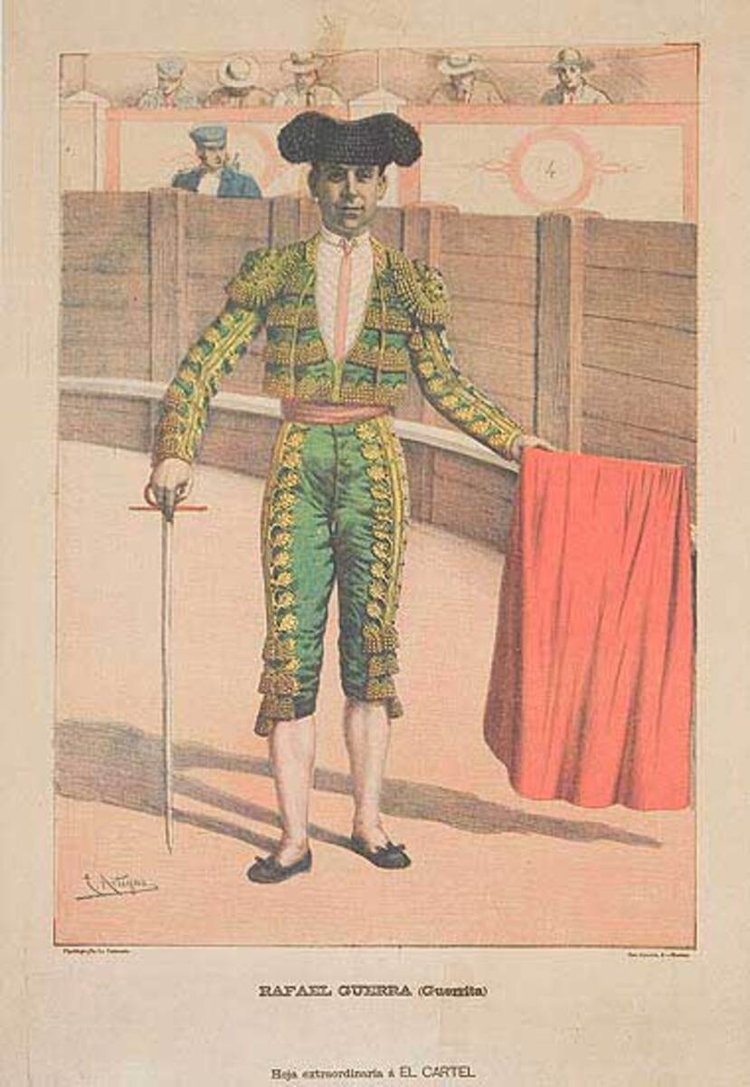 Bullfight Original Sport Poster Raphael Guerra