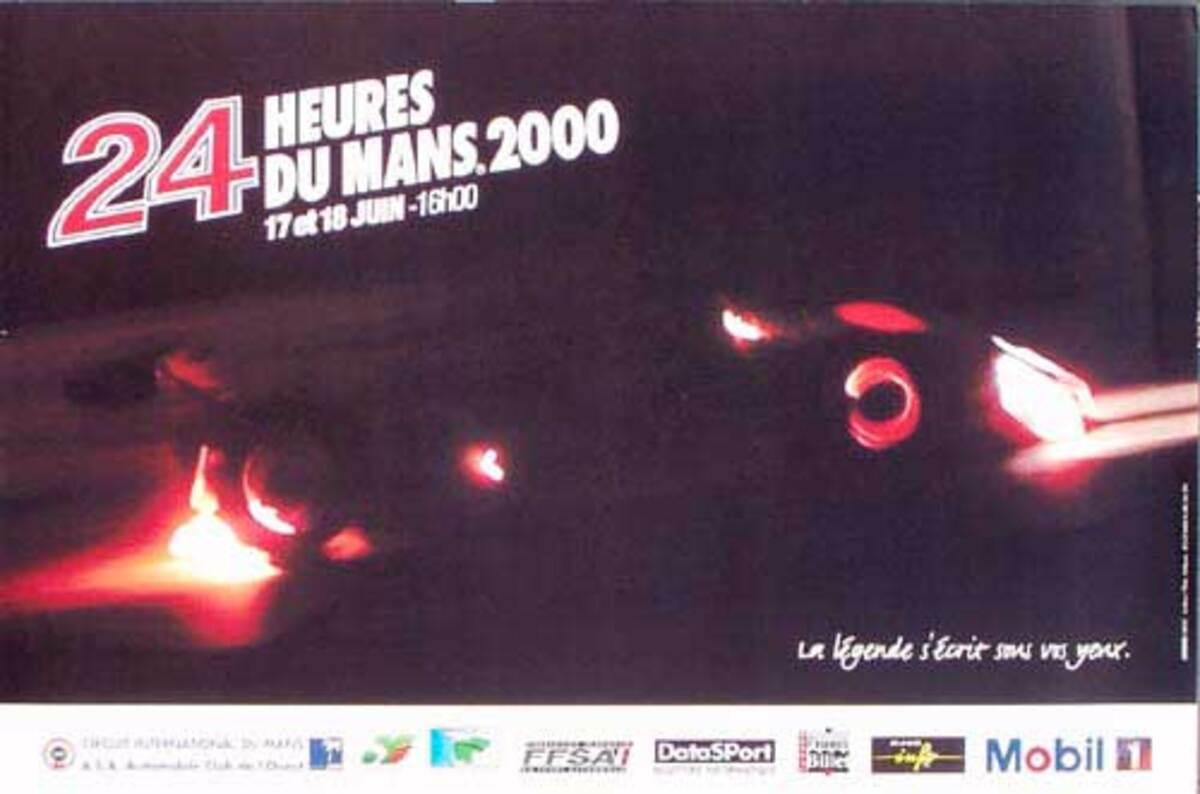 24 hours Le Mans 2000 Original F1 Racing Poster