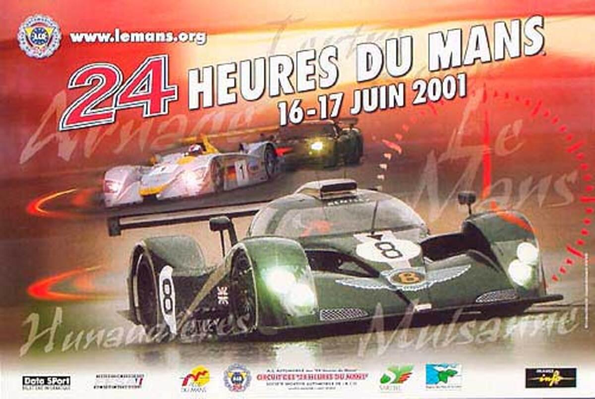 24 hours Le Mans 2001 Original F1 Racing Poster