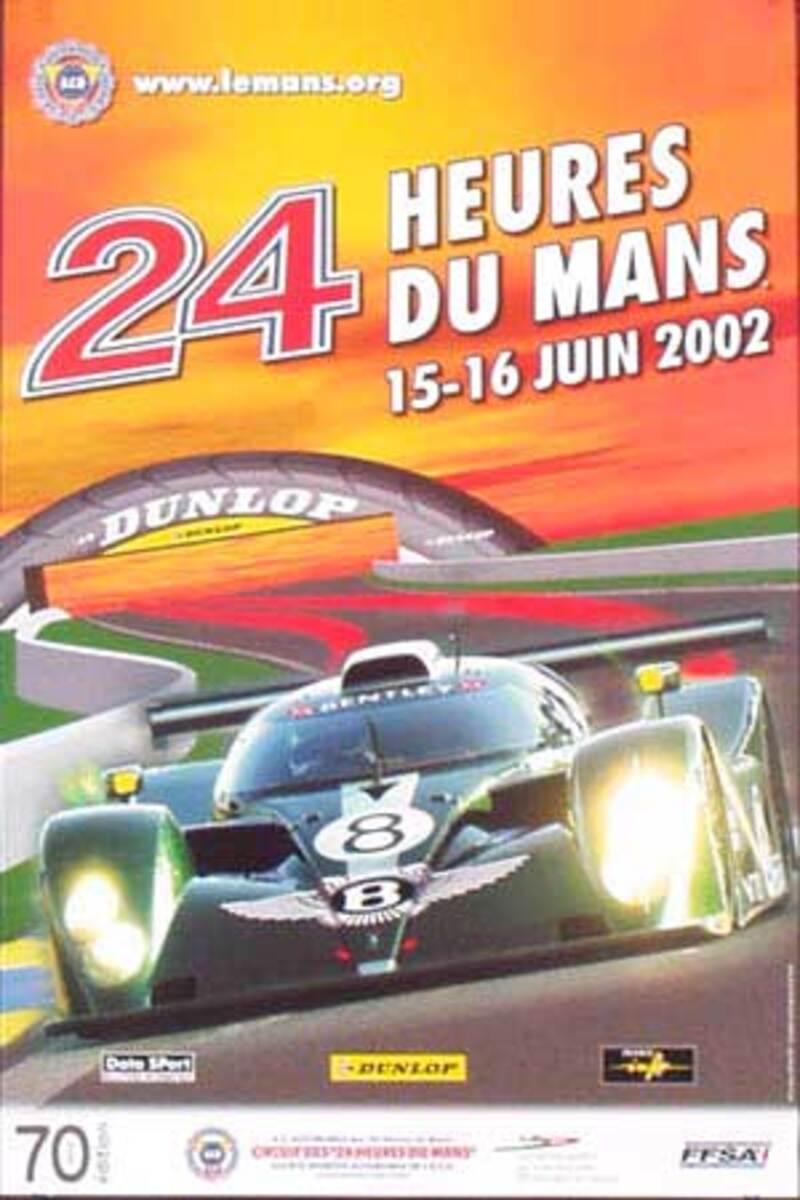 Le Mans 24 Formula 1 Original Vintage Racing Poster 2002