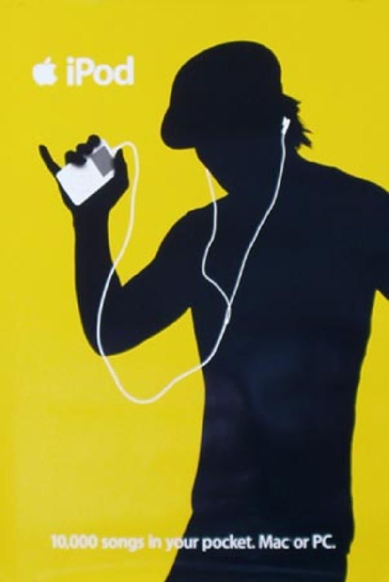 Apple IPOD Original Advertising Poster Yellow