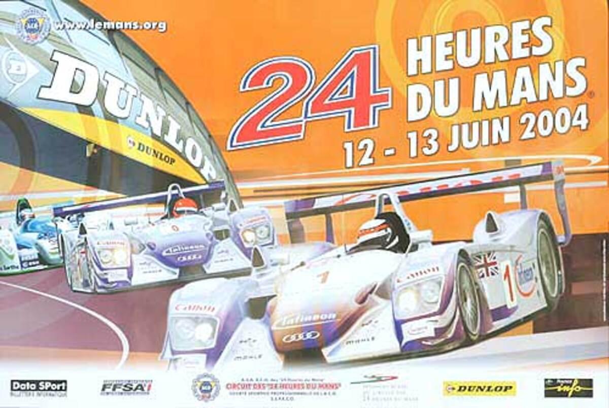 Original 2004 Le Mans 24 Hour Formula 1 Race Poster