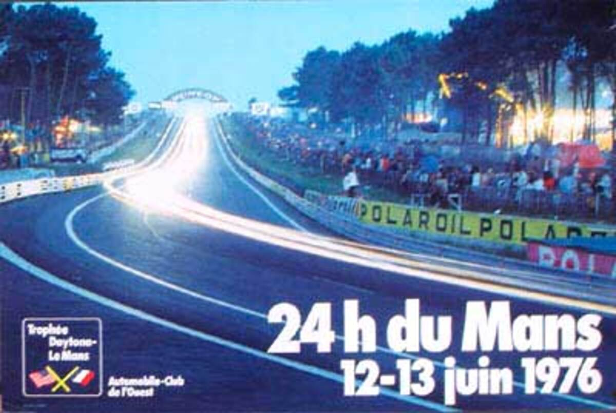 24 hours Le Mans 1976 Original F1 Racing Poster