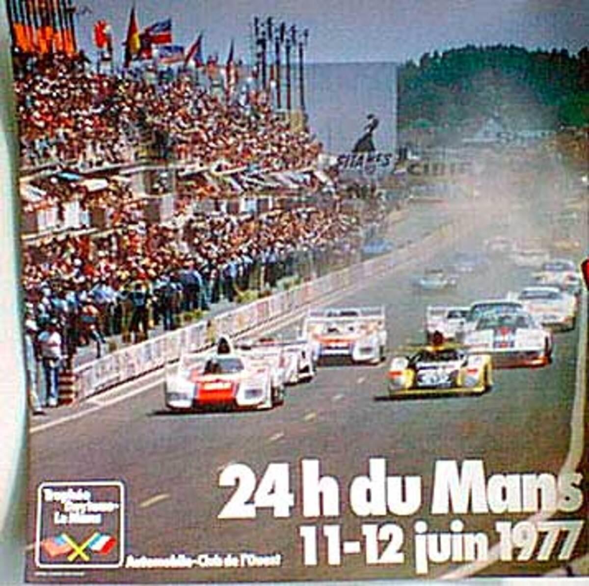 24 hours Le Mans 1977 Original F1 Racing Poster