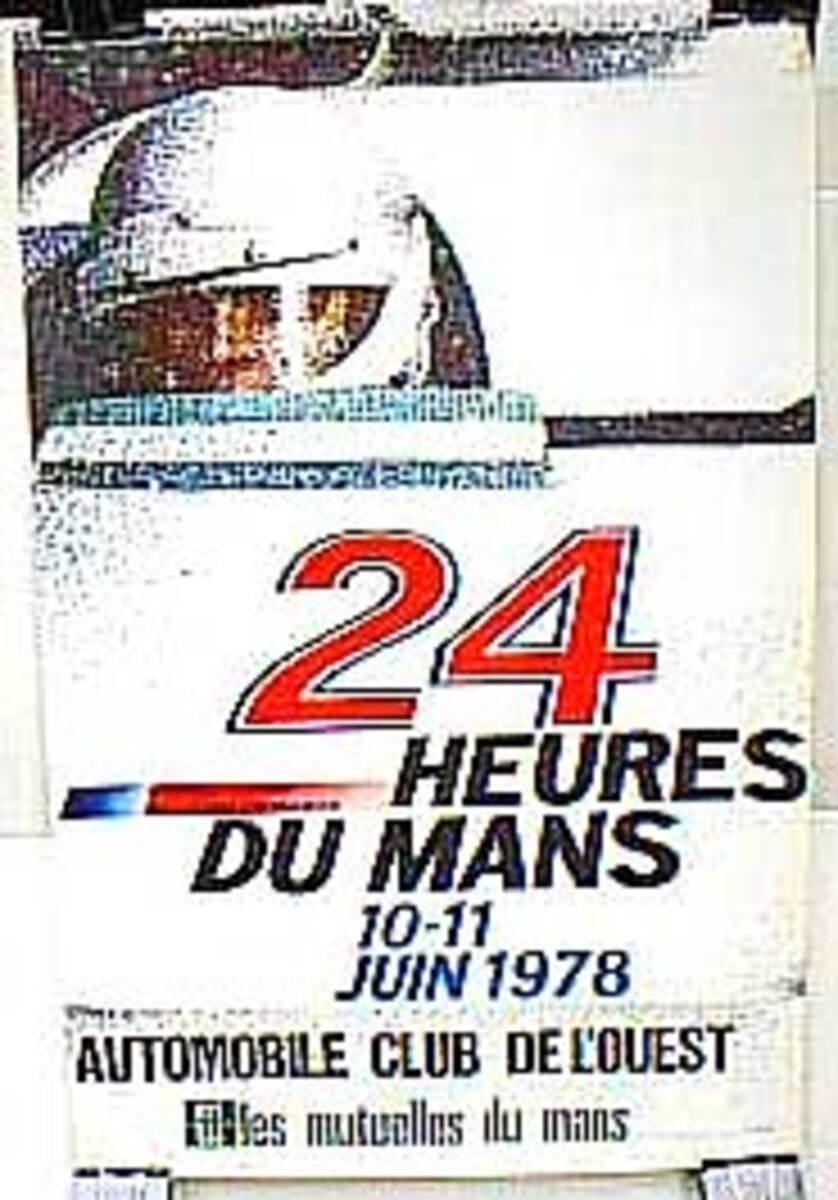24 hours Le Mans 1978 Original F1 Racing Poster