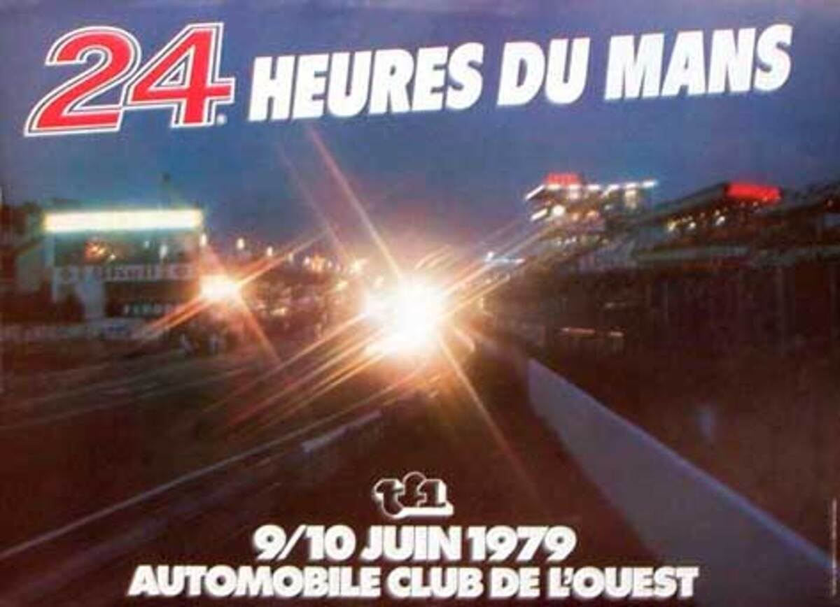 24 hours Le Mans 1979 Original F1 Racing Poster