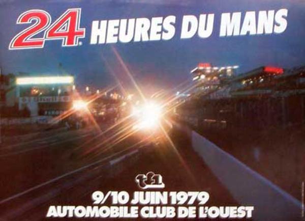 24 hours Le Mans 1979 Original Vintage F1 Racing Poster