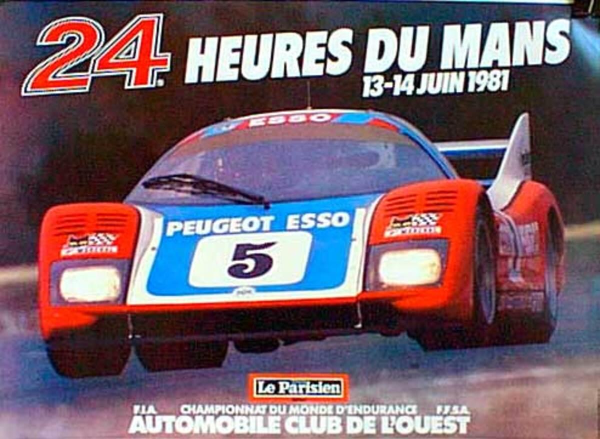 24 hours Le Mans 1981 Original F1 Racing Poster