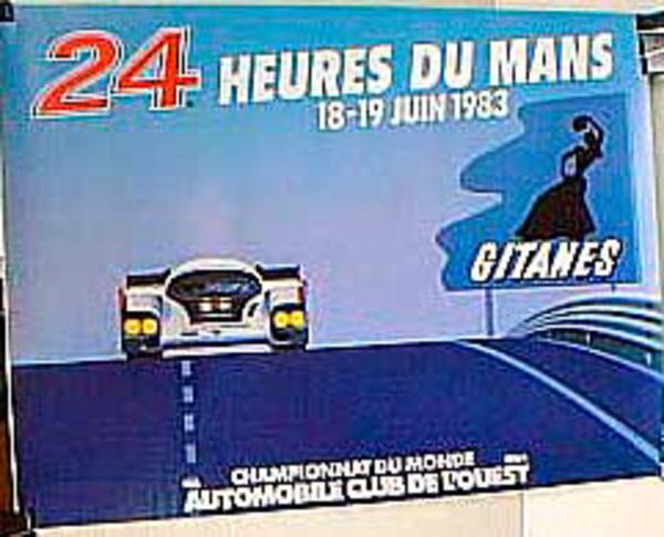 24 hours Le Mans 1983 Original Vintage F1 Racing Poster