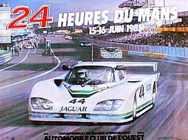 24 hours Le Mans 1985 Original Vintage F1 Racing Poster