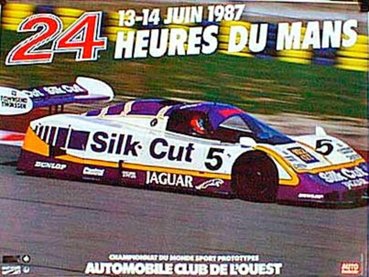 24 hours Le Mans 1987 Original F1 Racing Poster