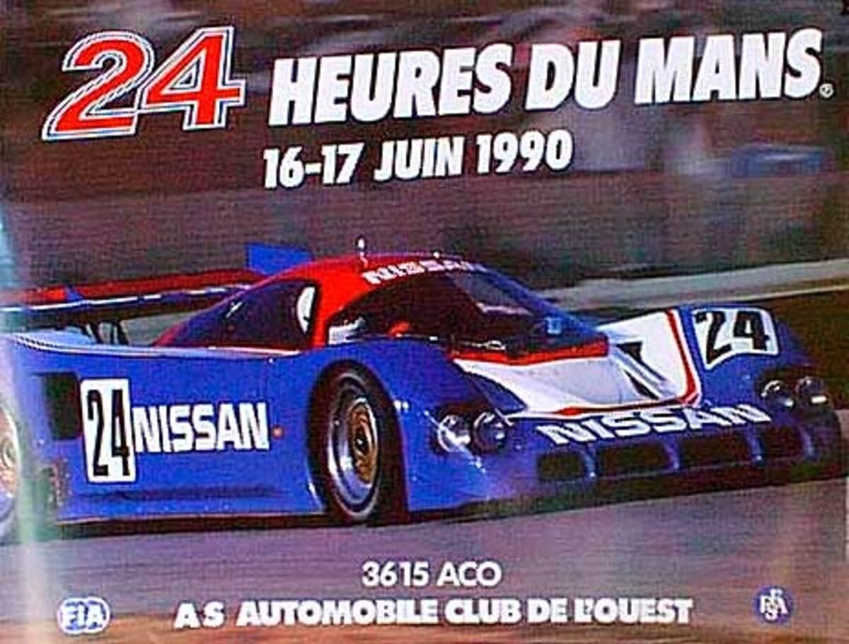 24 hours Le Mans 1990 Original F1 Racing Poster