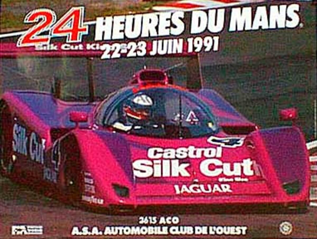 24 hours Le Mans 1991 Original F1 Racing Poster