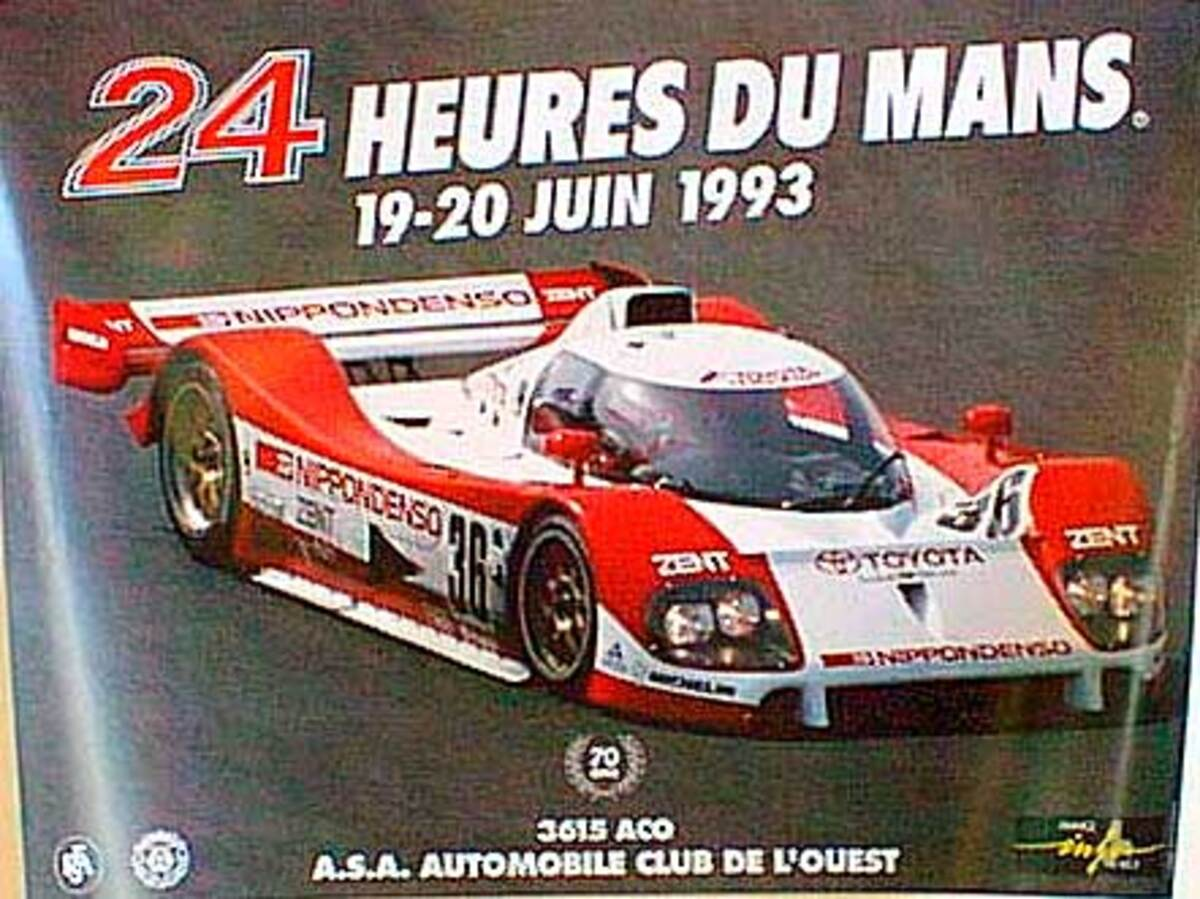 24 hours Le Mans 1993 Original F1 Racing Poster